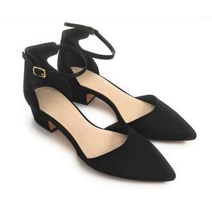 Aldo Pointed Toe Ankle Strap Block Heel Sandals 9